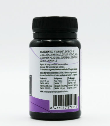 Etiqueta Trasera AlioCare 30 capsulas