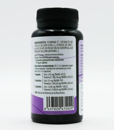 Etiqueta Trasera AlioCare 90 capsulas